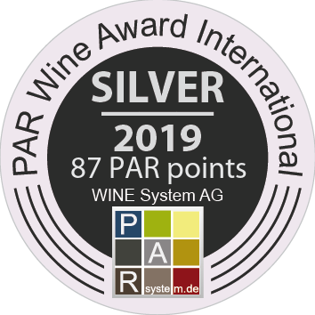 Silver award for Mareta 2018 at PAR Wine Award International 2019